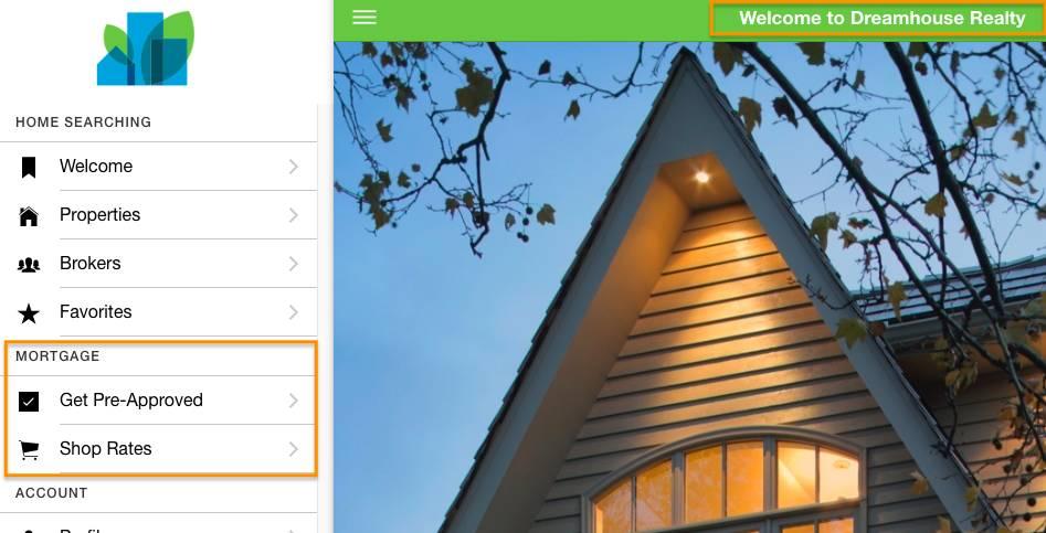 Captura de tela do aplicativo da web Dreamhouse usando a solicitação pull 2 com a alteração de título e sem o recurso Mortgage Calculator (Calculadora de hipoteca).