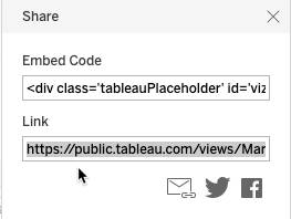 URL in the Link field highlighted