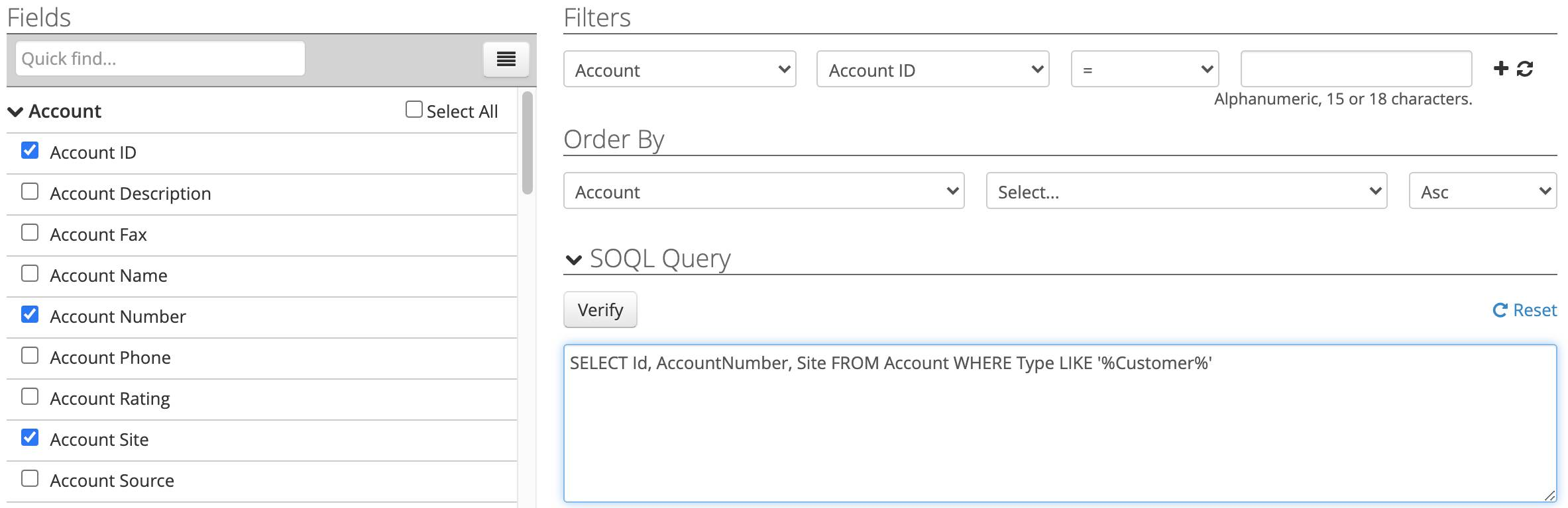 Completed Account query