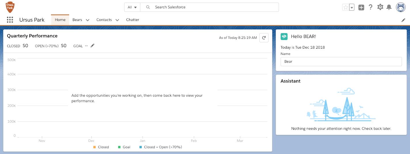 Ursus Park のホームページの式を使用した Lightning Web コンポーネント