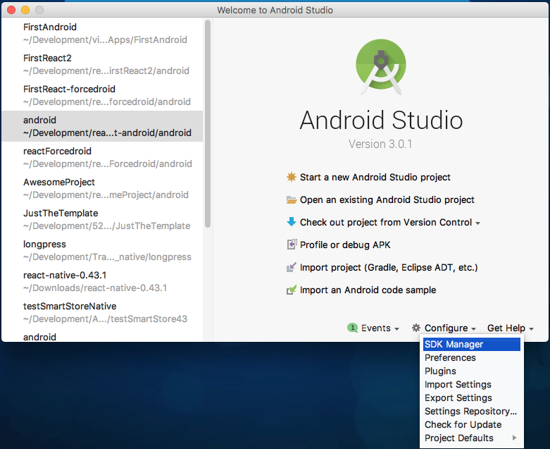 Set Up Your Android Development Environment Unit | Salesforce
