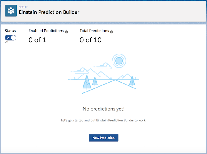 Einstein Prediction Builder Setup