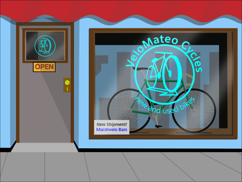 The VeloMateo bike shop