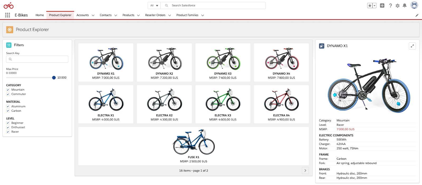 Overview of the E-Bikes sample app