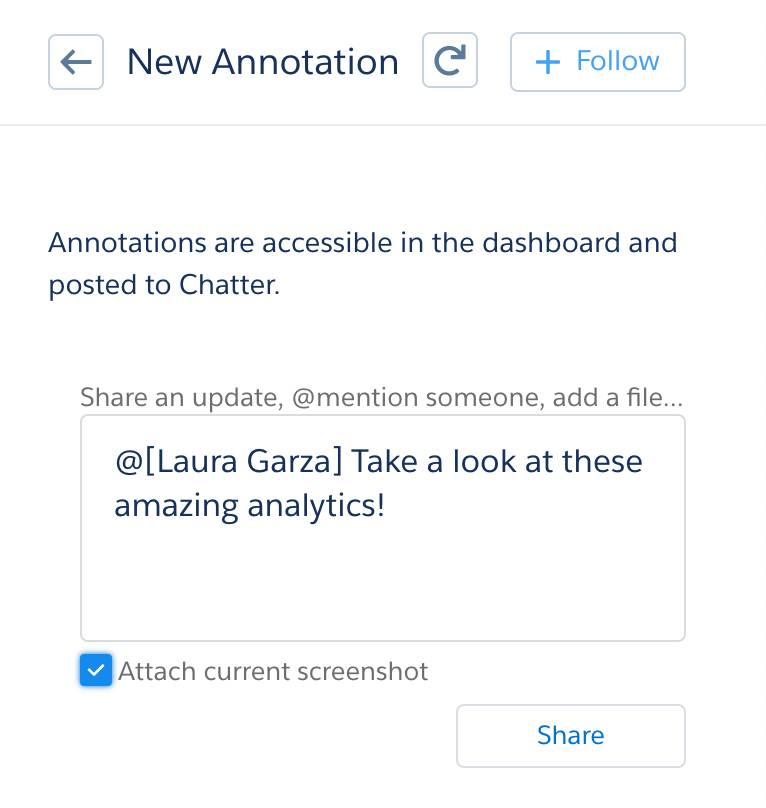The New Annotation box is where you enter a note for Laura Garza.