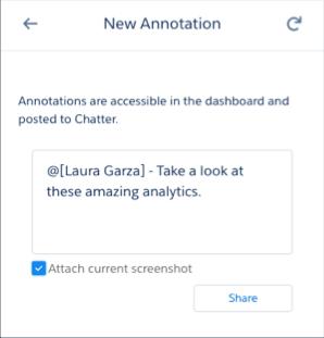 您可以在New Annotation框中输入Laura Garza的注释。