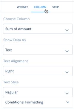 """""""属性""""面板显示条件格式。"""