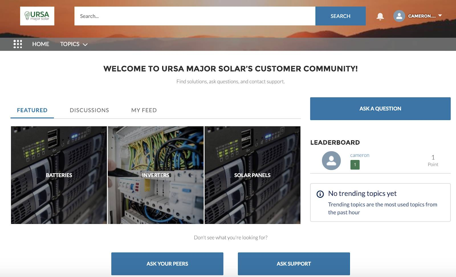 Preview of Ursa Major Solar's community