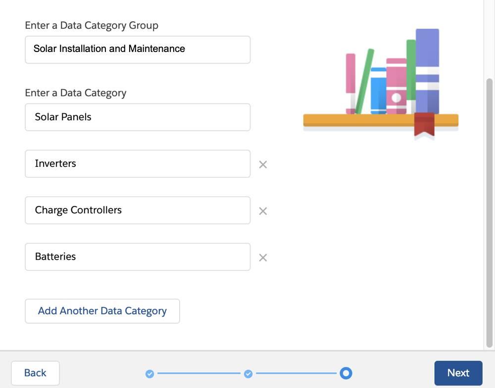Knowledge Setup: Data Category