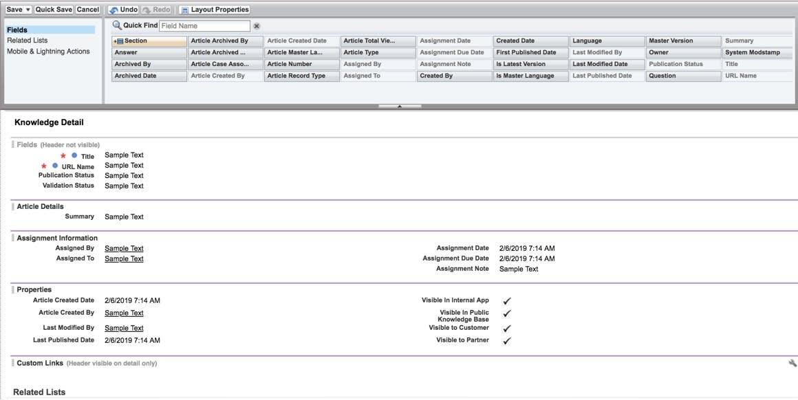 [How To (方法)] ページレイアウト。3 つの新しいセクションが表示され、各セクションの下に項目が示されています。