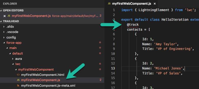 エラーが強調された JavaScript ファイルを開く