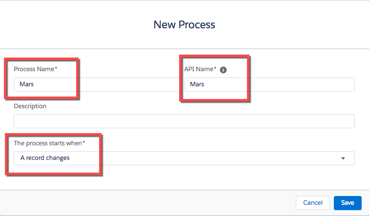 Screenshot showing creation of new process.