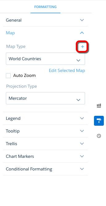 カスタム地図の [Add (追加)] ボタン