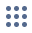 Icon displaying a grid of nine dots. This icon is used to bring up the App Launcher.