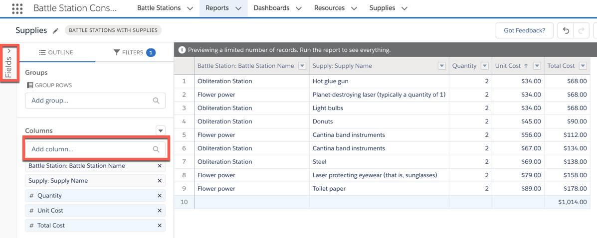 La sección Vista previa resaltando que el formato Resumen debería seleccionarse como el formato.