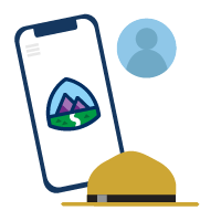 Cómo manejarse dentro de Trailhead icon