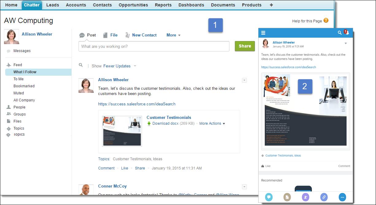 Unidad Empezar a trabajar con Chatter | Salesforce Trailhead