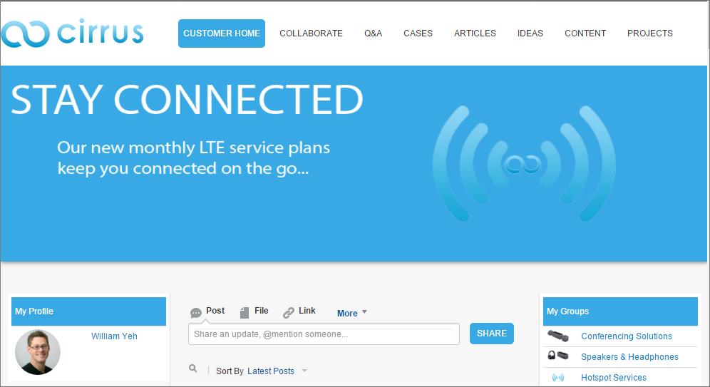 A screenshot of a Salesforce Community