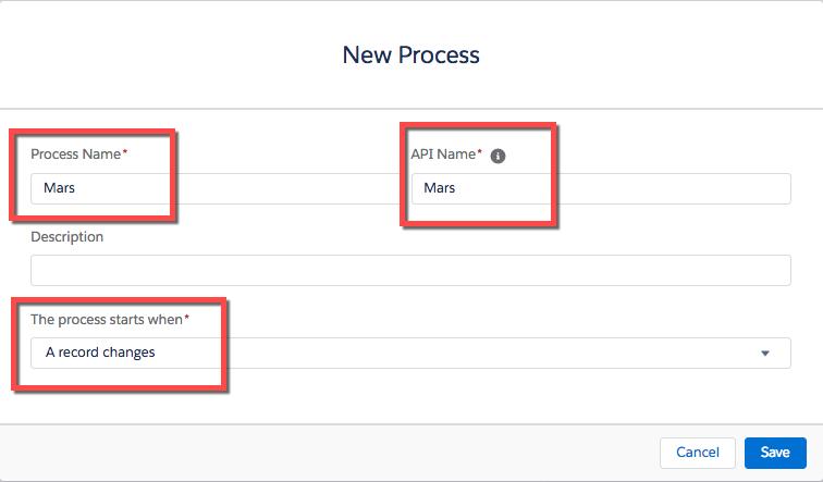 Screenshot showing creation of new process.