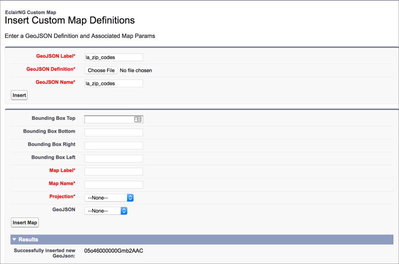 custom map geojson upload screen