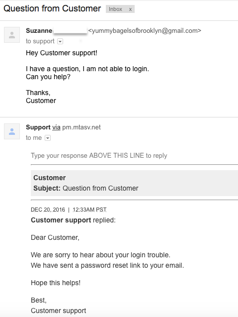 standard reply theme