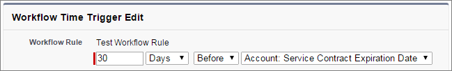 Screenshot of an example time trigger
