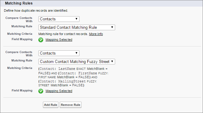 Compare new and updated contacts with ones in Salesforce