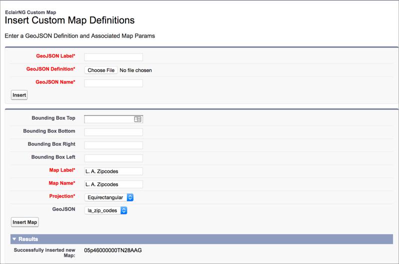 custom map insert map screen
