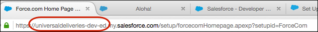 URL of subdomain