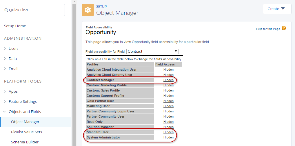 Customize Field Access on Opportunities
