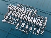 word cloud of governance words