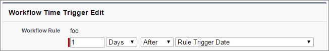 Screenshot of time trigger