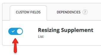 enable field
