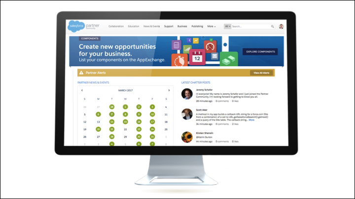 Salesforce Partner Community landing page
