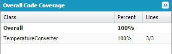 View code coverage percentage in the Developer Console