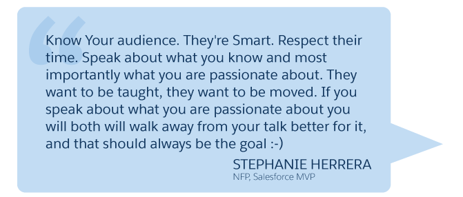 'Know Your audience...' Stephanie Herrera (NFP, Salesforce MVP)