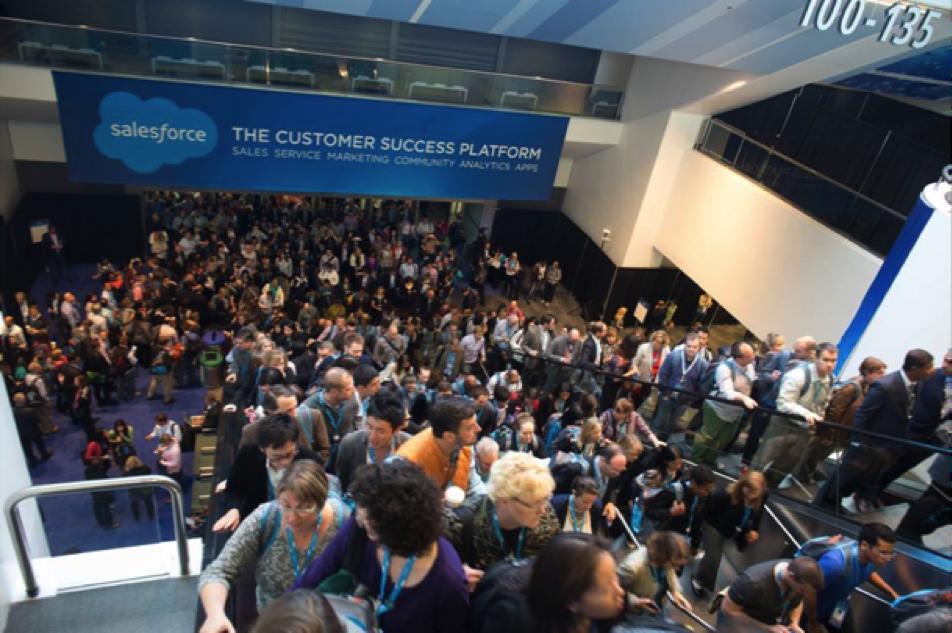 A huge crowd at Dreamforce