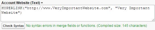 A hyperlink formula.