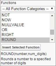 The Functions menu.