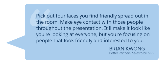 'Pick out four faces you find friendly... Brian Kwong (Better Partners, Salesforce MVP)'