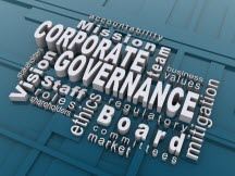 word cloud of governance words