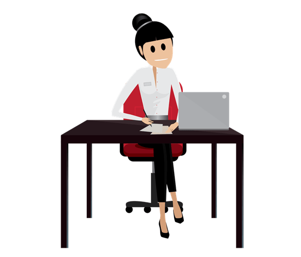 Create your implementation blueprint unit salesforce trailhead a nonprofit professional pencil in hand getting ready to work on her blueprint malvernweather Choice Image