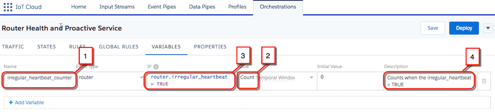 "Variables list with ""irregular_heartbeat_counter""."