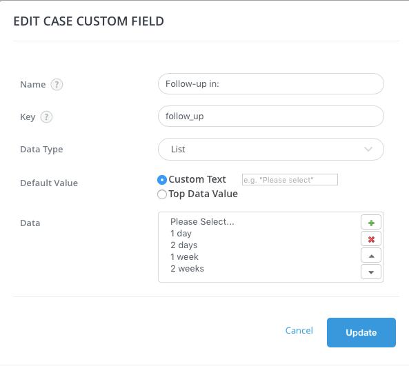 Add case Custom Field