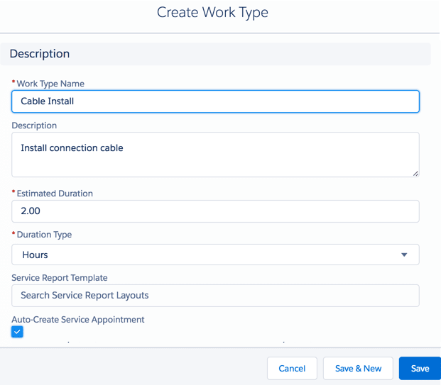 Create a work type page