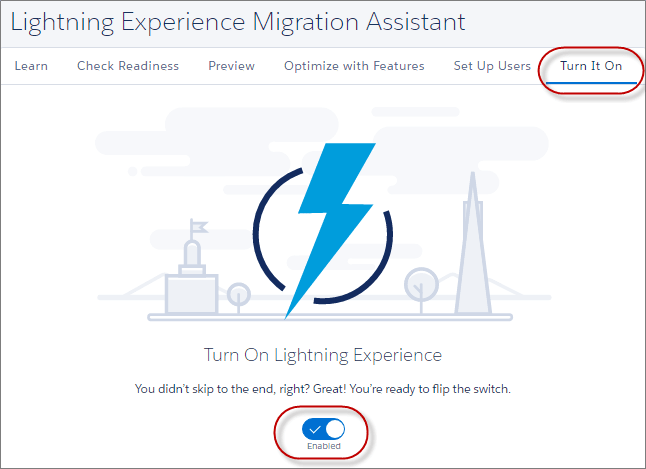 Enable Lightning Experience