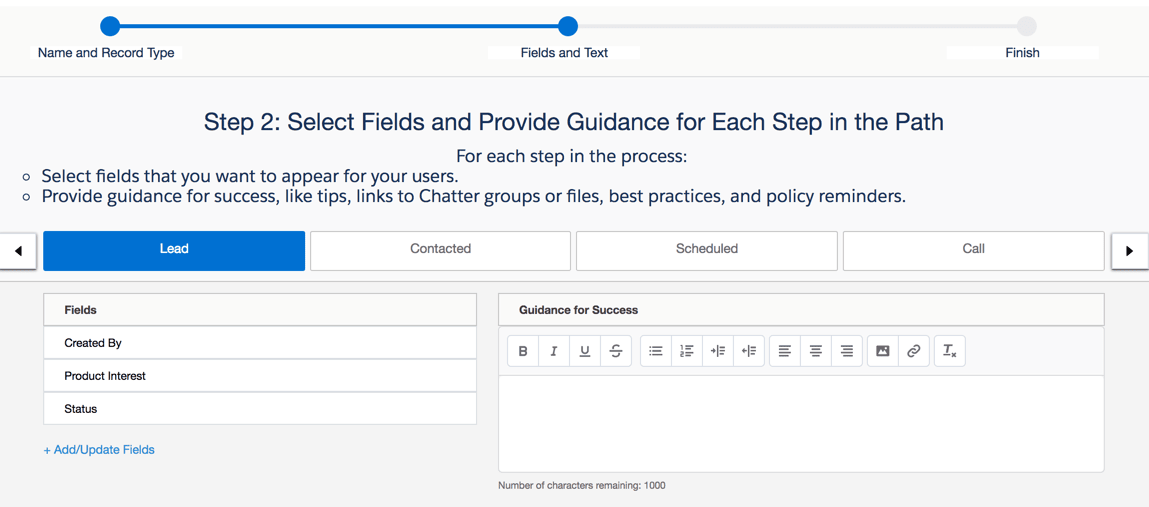Setup Flow for Path stages