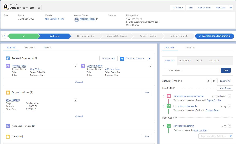 Unidad Primeros pasos con Lightning Experience | Salesforce Trailhead