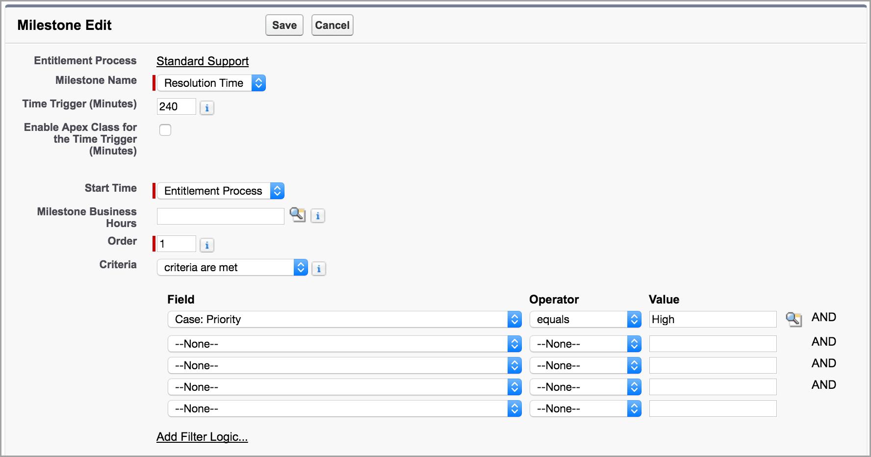 Unidad Configurar los pasos de asistencia obligatorios | Salesforce