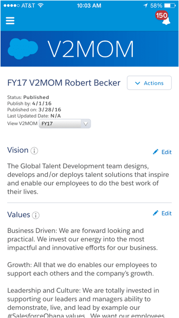 Look up any of our 20,000 plus employees and read their V2MOMs on your phone and learn more about who they are